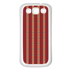 Pattern Background Red Stripes Samsung Galaxy S3 Back Case (white)