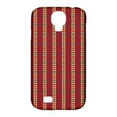 Pattern Background Red Stripes Samsung Galaxy S4 Classic Hardshell Case (pc+silicone)