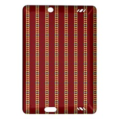 Pattern Background Red Stripes Amazon Kindle Fire Hd (2013) Hardshell Case