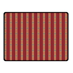 Pattern Background Red Stripes Double Sided Fleece Blanket (small)