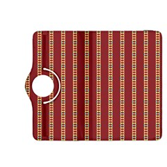 Pattern Background Red Stripes Kindle Fire Hdx 8 9  Flip 360 Case