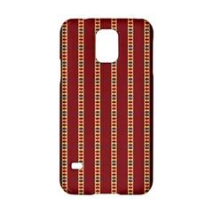 Pattern Background Red Stripes Samsung Galaxy S5 Hardshell Case