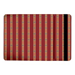 Pattern Background Red Stripes Samsung Galaxy Tab Pro 10 1  Flip Case