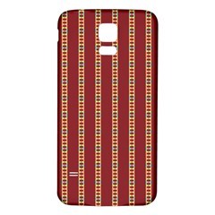 Pattern Background Red Stripes Samsung Galaxy S5 Back Case (white)