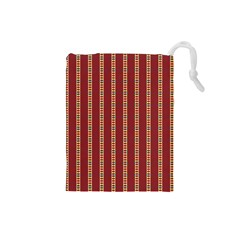 Pattern Background Red Stripes Drawstring Pouches (small)
