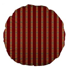 Pattern Background Red Stripes Large 18  Premium Flano Round Cushions