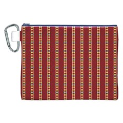 Pattern Background Red Stripes Canvas Cosmetic Bag (xxl)
