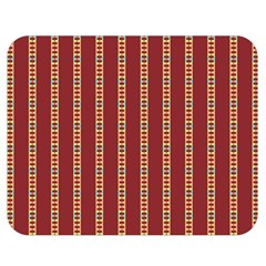 Pattern Background Red Stripes Double Sided Flano Blanket (medium)