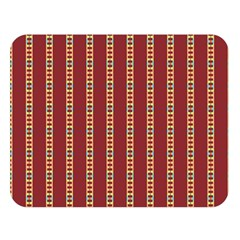 Pattern Background Red Stripes Double Sided Flano Blanket (large)