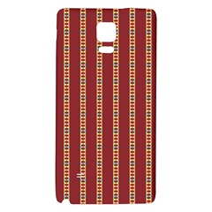 Pattern Background Red Stripes Galaxy Note 4 Back Case