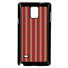 Pattern Background Red Stripes Samsung Galaxy Note 4 Case (black)