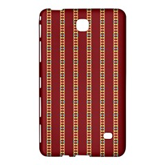 Pattern Background Red Stripes Samsung Galaxy Tab 4 (8 ) Hardshell Case