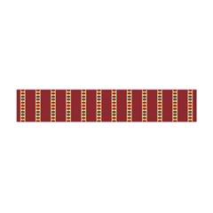 Pattern Background Red Stripes Flano Scarf (mini)