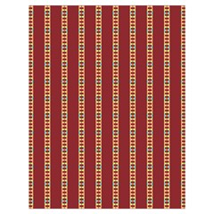 Pattern Background Red Stripes Drawstring Bag (large)