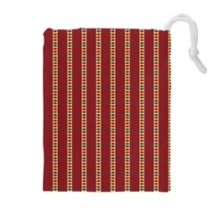 Pattern Background Red Stripes Drawstring Pouches (extra Large)