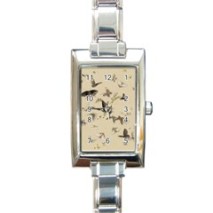 Vintage Old Fashioned Antique Rectangle Italian Charm Watch