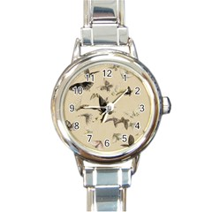 Vintage Old Fashioned Antique Round Italian Charm Watch