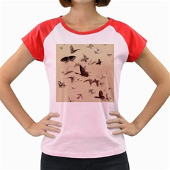 Vintage Old Fashioned Antique Women s Cap Sleeve T Shirt