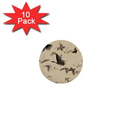 Vintage Old Fashioned Antique 1  Mini Buttons (10 Pack)