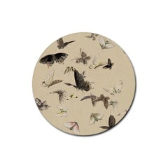 Vintage Old Fashioned Antique Rubber Round Coaster (4 Pack)
