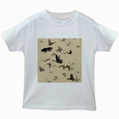 Vintage Old Fashioned Antique Kids White T Shirts