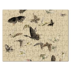 Vintage Old Fashioned Antique Rectangular Jigsaw Puzzl