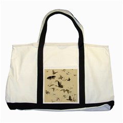 Vintage Old Fashioned Antique Two Tone Tote Bag
