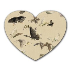 Vintage Old Fashioned Antique Heart Mousepads