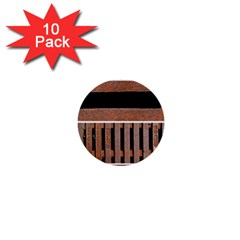 Stainless Structure Collection 1  Mini Buttons (10 Pack)