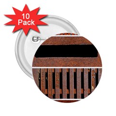 Stainless Structure Collection 2 25  Buttons (10 Pack)