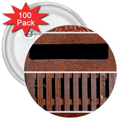 Stainless Structure Collection 3  Buttons (100 Pack)