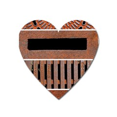 Stainless Structure Collection Heart Magnet