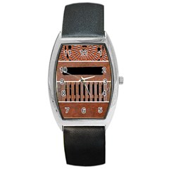 Stainless Structure Collection Barrel Style Metal Watch
