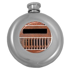 Stainless Structure Collection Round Hip Flask (5 Oz)