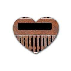 Stainless Structure Collection Heart Coaster (4 pack)