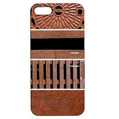 Stainless Structure Collection Apple Iphone 5 Hardshell Case With Stand