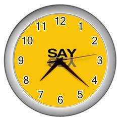 Say Yes Wall Clocks (silver)
