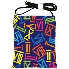 Roman Numerals Shoulder Sling Bags