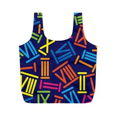 Roman Numerals Full Print Recycle Bags (m)