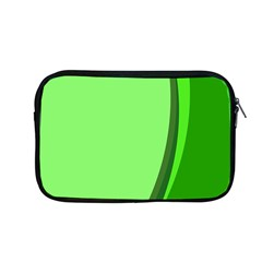 Simple Green Apple Macbook Pro 13  Zipper Case