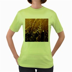 Ice Iced Structure Frozen Frost Women s Green T-Shirt