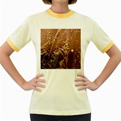 Ice Iced Structure Frozen Frost Women s Fitted Ringer T-Shirts