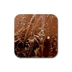 Ice Iced Structure Frozen Frost Rubber Coaster (square)