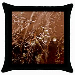 Ice Iced Structure Frozen Frost Throw Pillow Case (black)