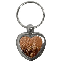 Ice Iced Structure Frozen Frost Key Chains (heart)
