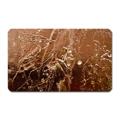 Ice Iced Structure Frozen Frost Magnet (rectangular)