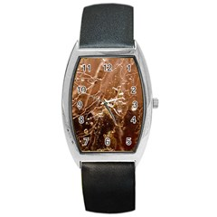 Ice Iced Structure Frozen Frost Barrel Style Metal Watch