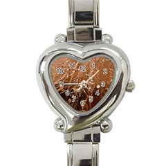 Ice Iced Structure Frozen Frost Heart Italian Charm Watch