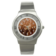 Ice Iced Structure Frozen Frost Stainless Steel Watch