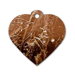 Ice Iced Structure Frozen Frost Dog Tag Heart (one Side)